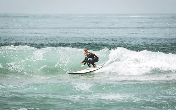 Puesta en pie surf