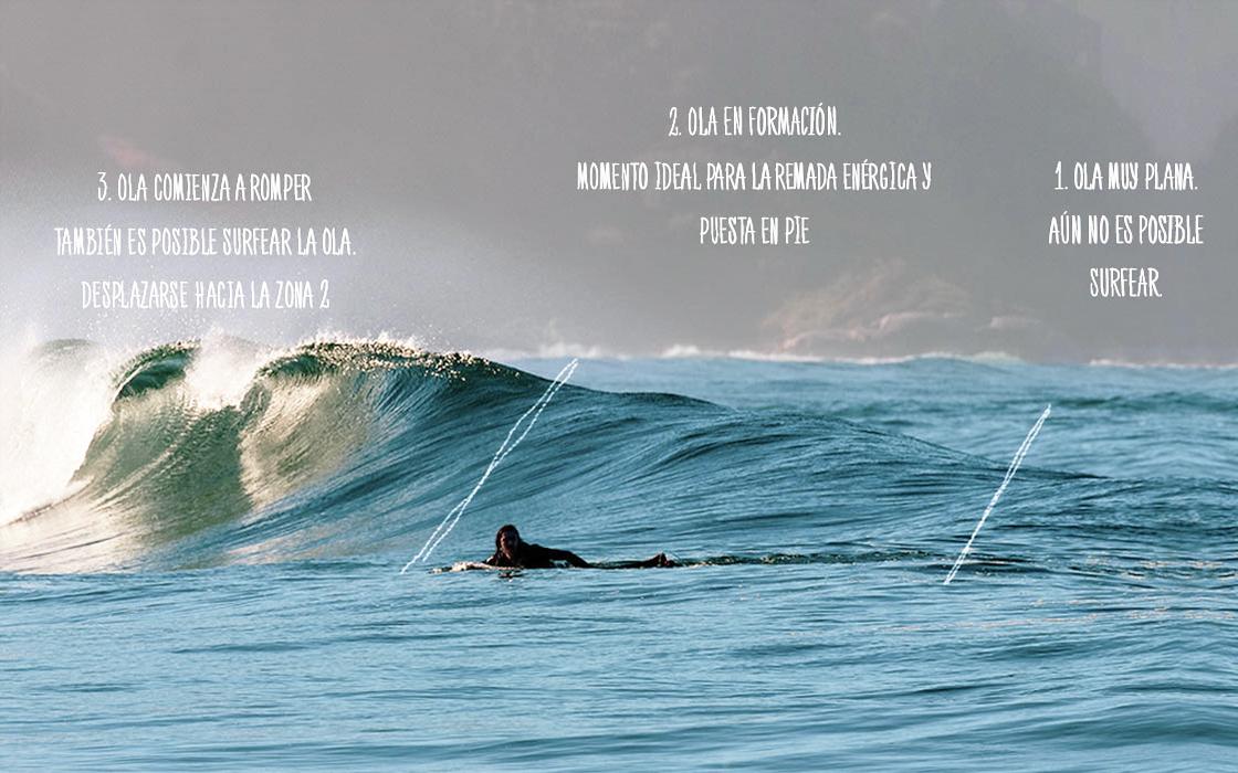 Descripción de evolución de la ola